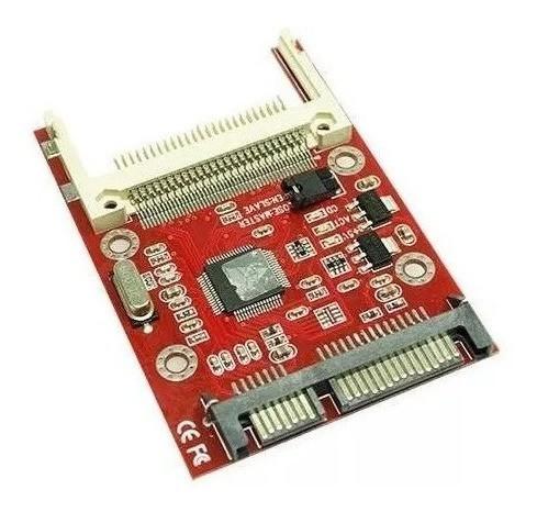 Adaptador Conversor Compact Flash Cf Para Sata