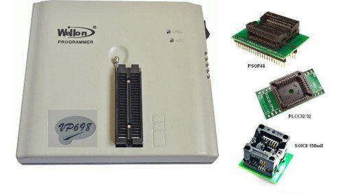 Kit Automotivo Programador Eprom Vp-698 Psop44 Plcc32 Soic8