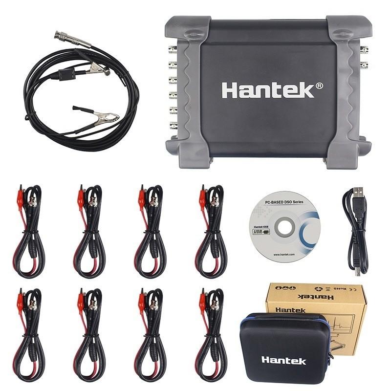 Osciloscópio Hantek 1008c 60mhz Automotivo 8 Canais Maleta e cabo de bobina