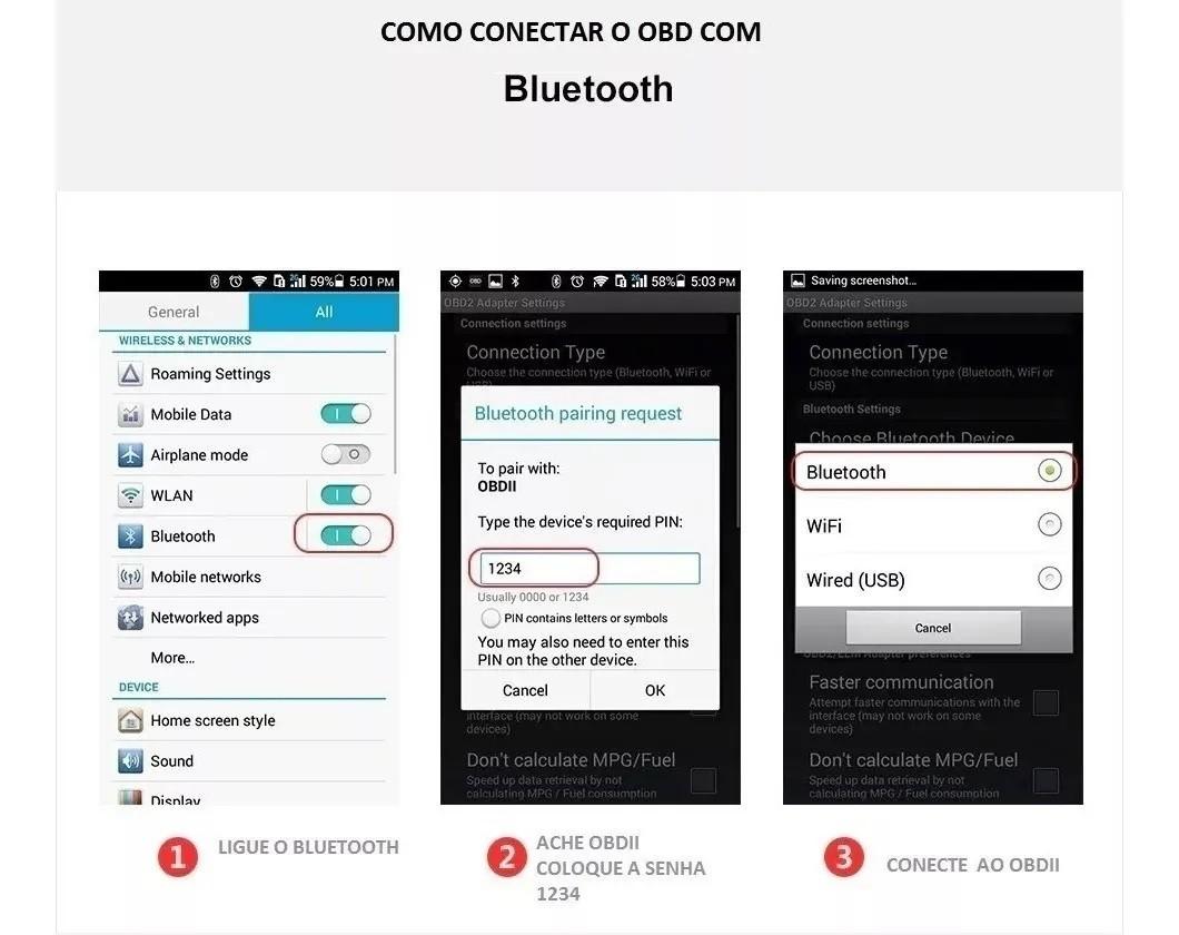 Scanner Automotivo Obd2 Bluetooth Android Elm327