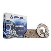 Kit transmissão relação Biz125 06/10 (Vulcan Premium)