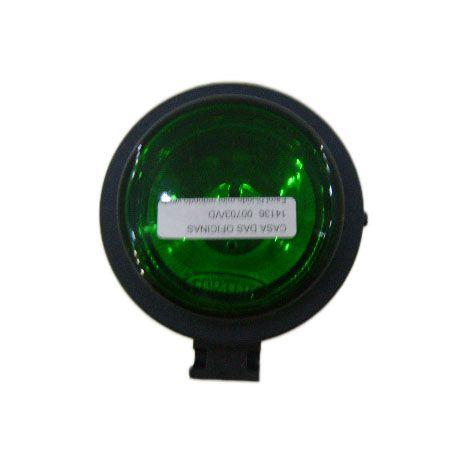 Farol bi-iodo mini redondo verde