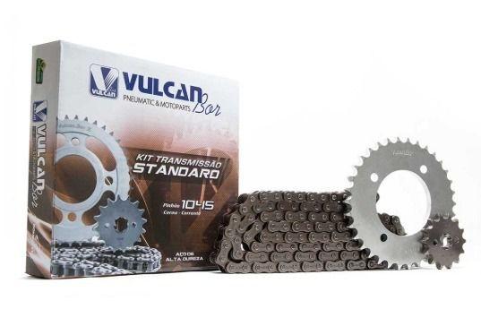 Kit transmissão relação Biz125 06/10 (Vulcan Standard)