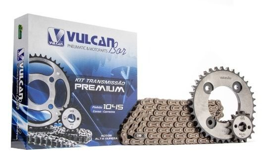 Kit transmissão relação Pop100 07/15 (Vulcan Premium)