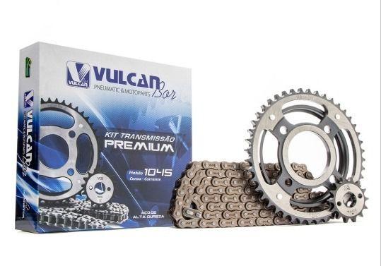 Kit transmissão relação Titan125 00/08KS/ES (Vulcan Premium)