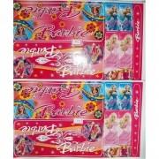 Adesivo Cartela Barbie Jogo