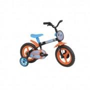 Bicicleta Aro 12  Mundo Magico C/ Pedal Nathor Preto Laranja