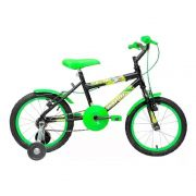 Bicicleta Aro 16 Cairu C-16 Preta/verde Infantil