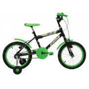 Bicicleta Aro 16 Cairu Mtb Masculino Preto Com Verde