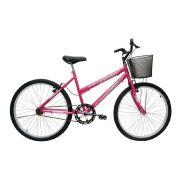Bicicleta Aro 24 Cairu Bella 21v Rosa Pink Feminina C/ Cesta
