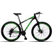Bicicleta Aro 29 Tsw  Hunter T/19 Preto Verde 24V Shimano