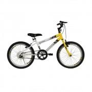 Bicicleta Revolution Aro 20 Masculino Athor Branco/Amarelo