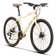 Bicicleta Sense Move 2020 Disc Urbana 21V Creme