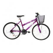 Bicicletas Aro 26 Cairu Bella Violeta 21V Aço