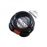 Cadeado Espiral Maxtrava Segredo 8x1500mm Fume Preto