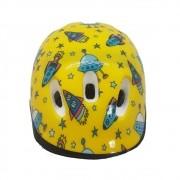 Capacete Mitsu Little Child Infantil Foguete Amarelo