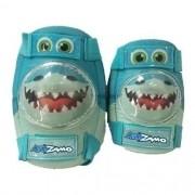 kit joelheira e cotoveleira  infantil T/ M kidzamo tubarão azul
