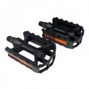 Pedal Plastico Mtb Preto Rosca Grossa 9/16 Metalciclo