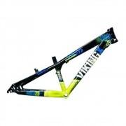 Quadro Vikingx Aro 26 Dirt Tuff x 25 Aluminio Preto/Verde/azul