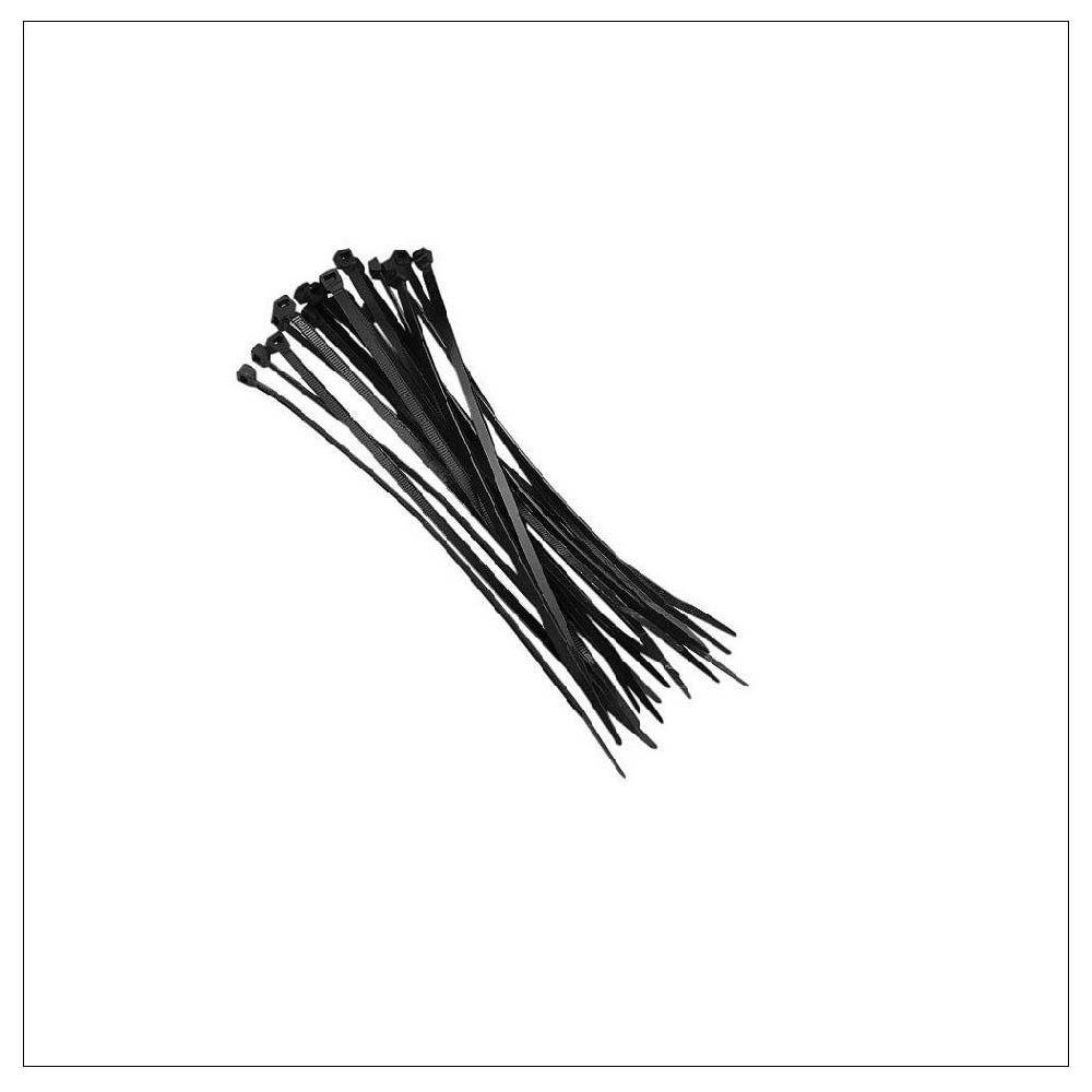 Abraçadeira De Nylon 3,6 X200MM Preto Plastico Presilha