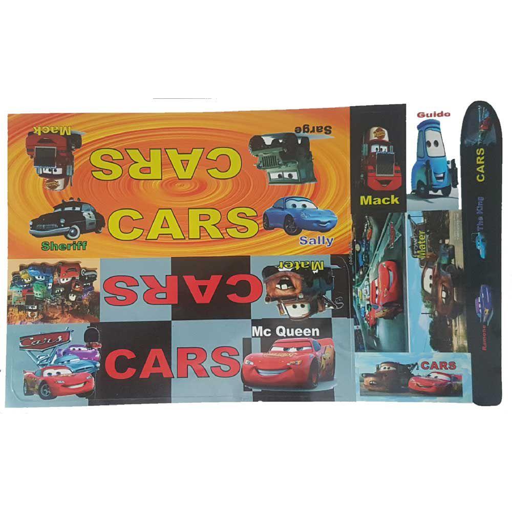 Adesivo Cartela Carros Jogo