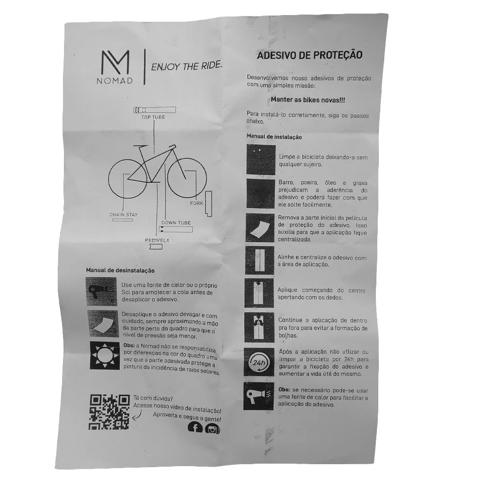 Adesivo De Proteção Nomadquadro suspensão P/Bike 7 kit