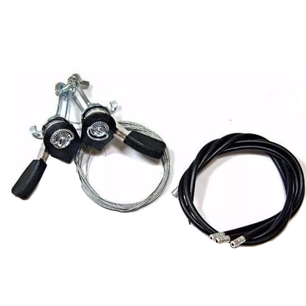 Alavanca de cambio aluminio polida com cabo e conduite