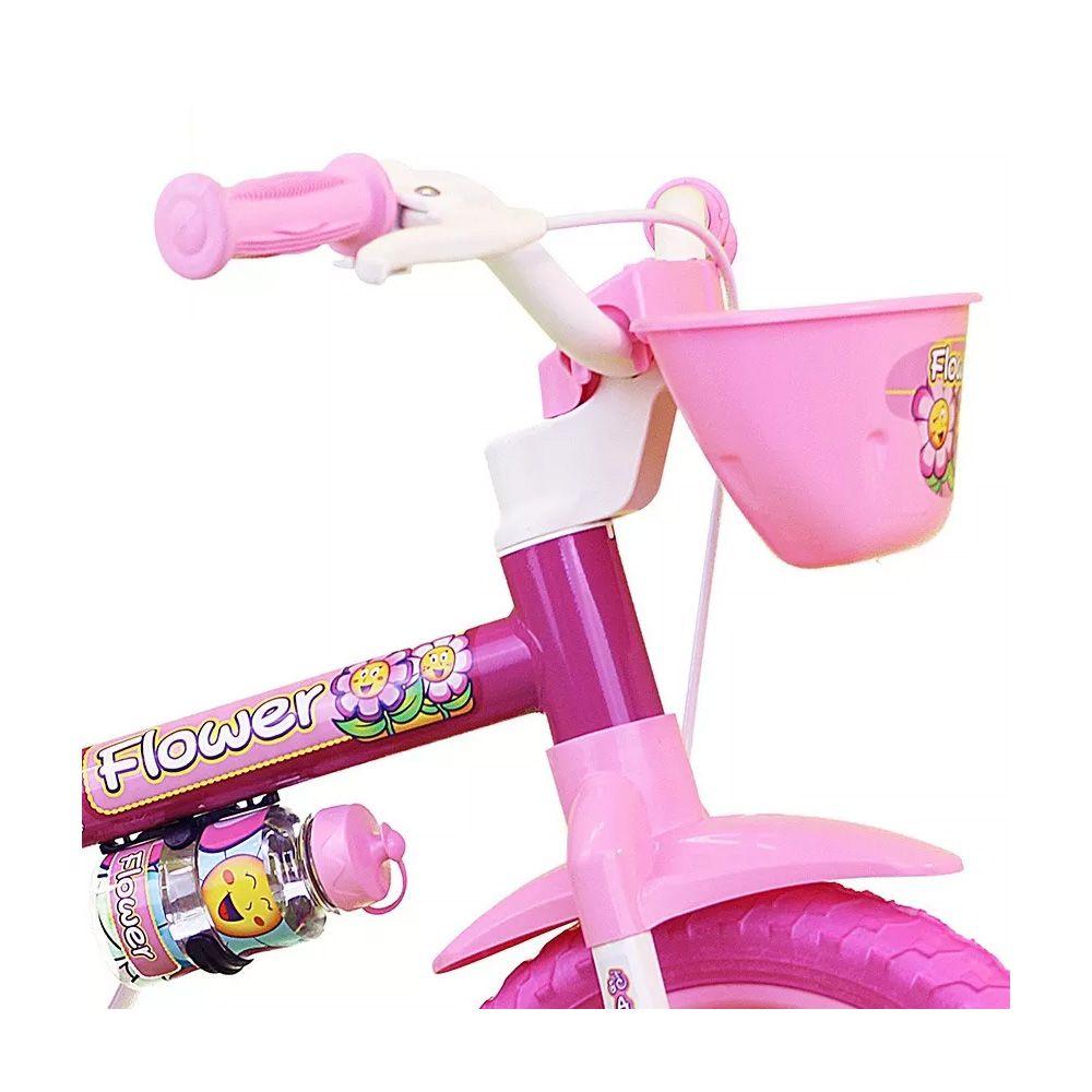 Bicicleta Aro 12 Lili, Flower Cor/Rosa feminina Com/Rodinha