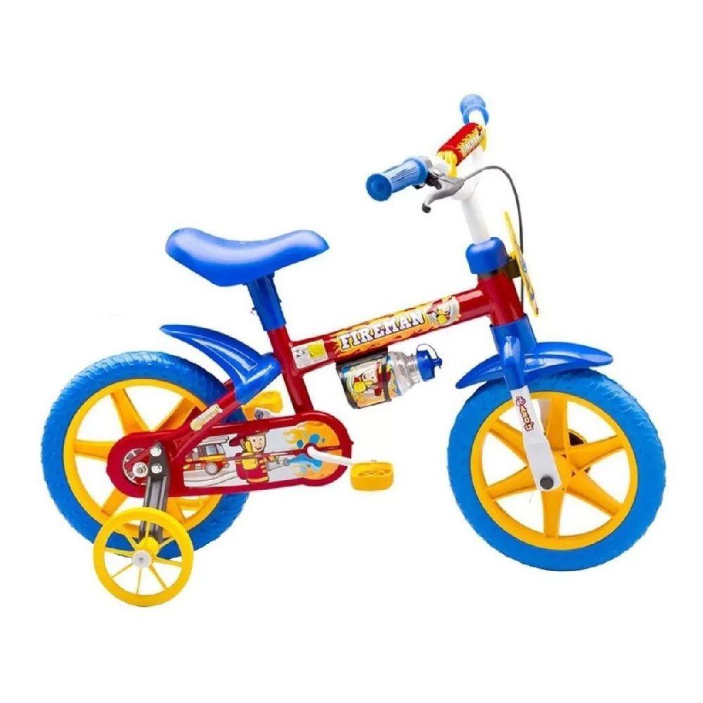 Bicicleta Aro 12 Masculina Fireman Vermelho