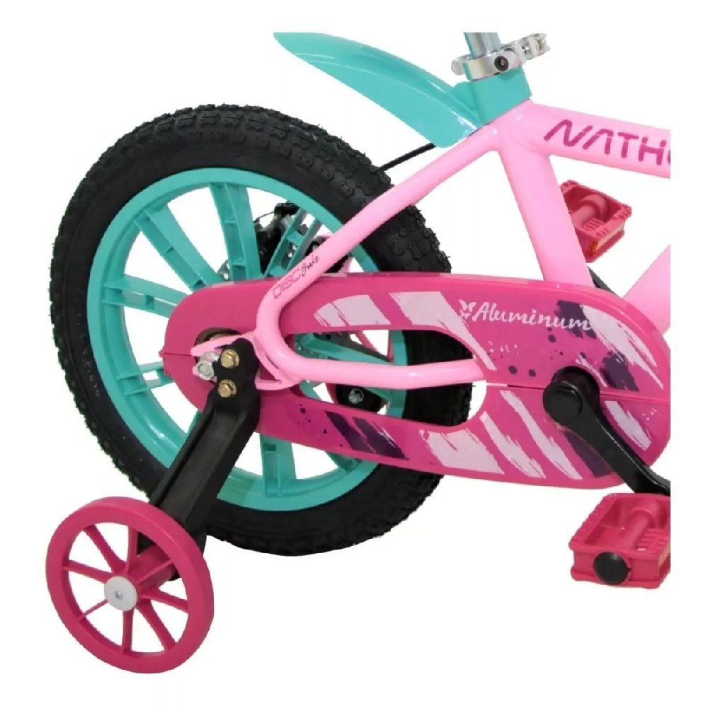 Bicicleta Aro 14 Nathor  First Pro Cor Rosa Aluminio