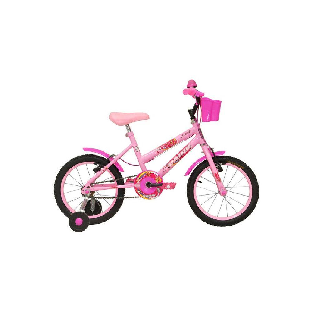Bicicleta Aro 16 Cairu C-High Rosa Fadinha