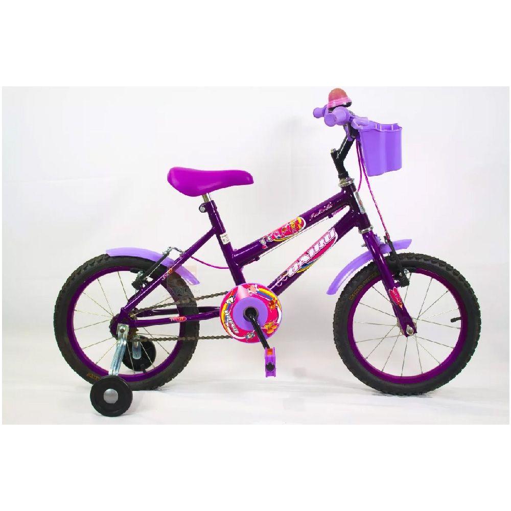 Bicicleta Aro 16 Cairu Lilas Fadinha