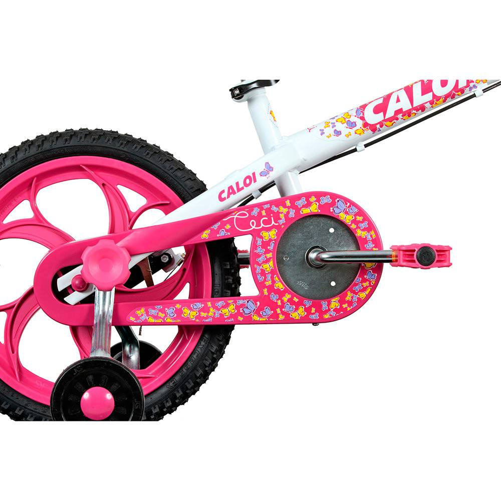 Bicicleta Aro 16 Caloi Ceci Branca