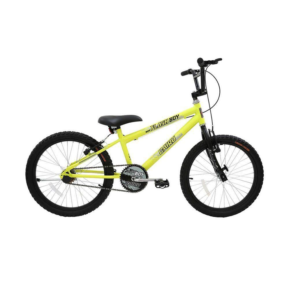 Bicicleta Aro 20 Cairu Aero Cross Flash Boy Amarelo Neon