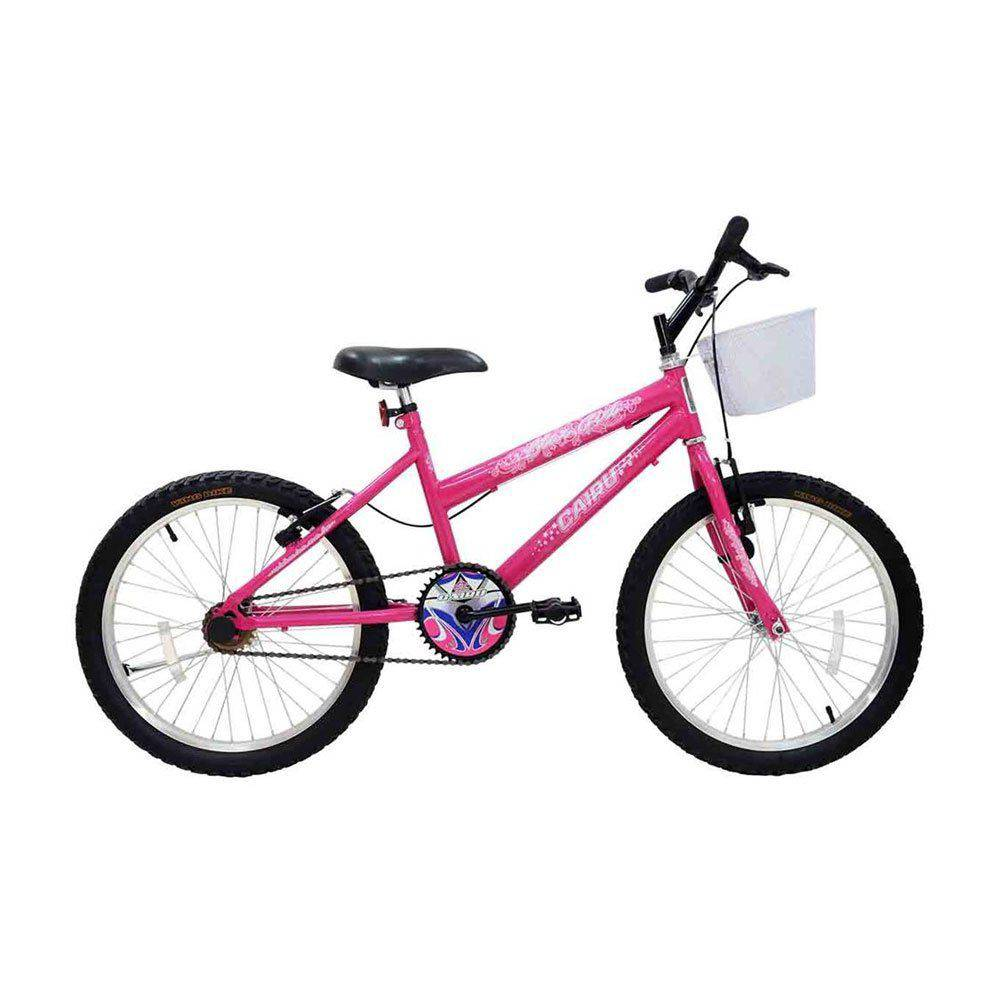Bicicleta Aro 20 Cairu Star Girl Rosa Com Cesto