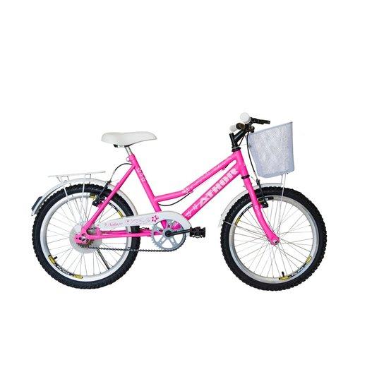 Bicicleta Aro 20 Feminina  Athor Nature Rosa cestinha