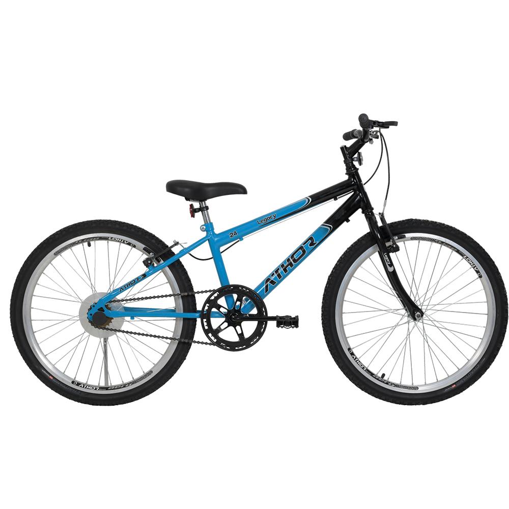 Bicicleta Aro 24 Mtb Legacy Athor  Masculino azul