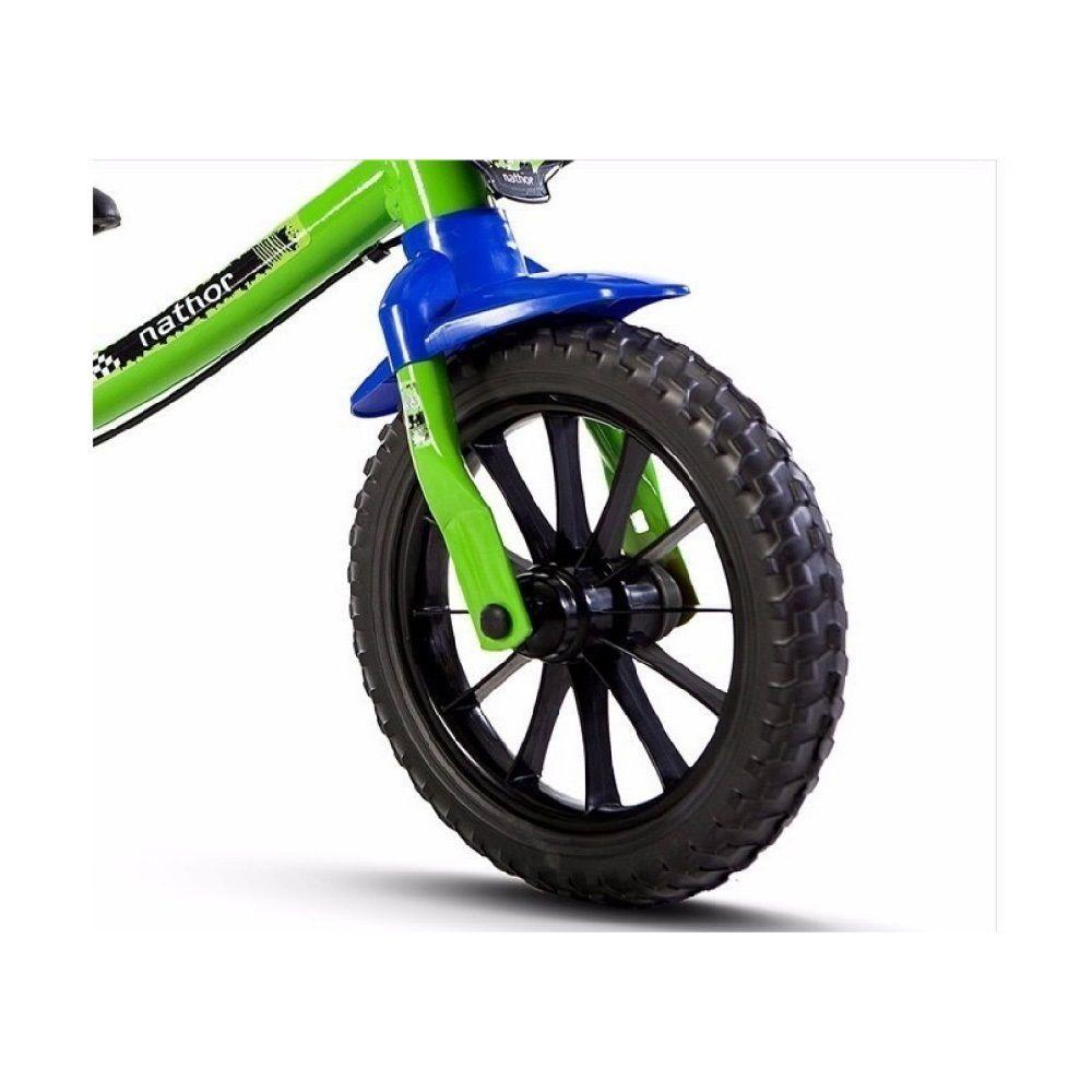 Bicicleta Balance Nathor Aro 12 Verde Masculina Sem Pedal