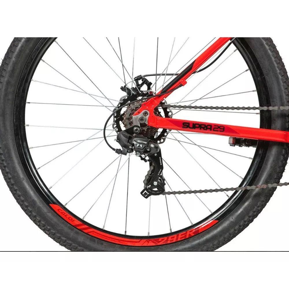 Bicicleta Caloi 29 t/17 Supra Vermelho 21v shimano F/disco
