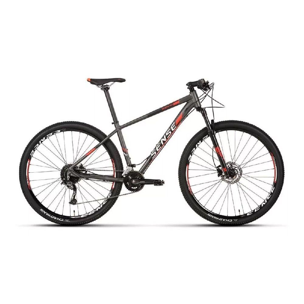 Bicicleta Sense Rock Evo 2020 T/L 19 Vmr/Pto Shimano Alivio