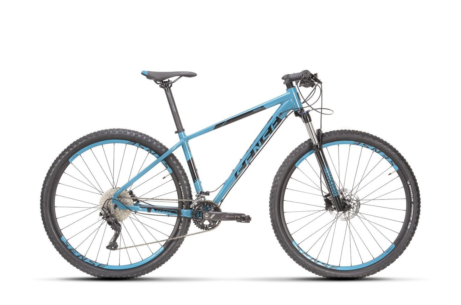 Bicicleta Sense Rock Evo 2021/22 Azul preto  Deore Rockshox