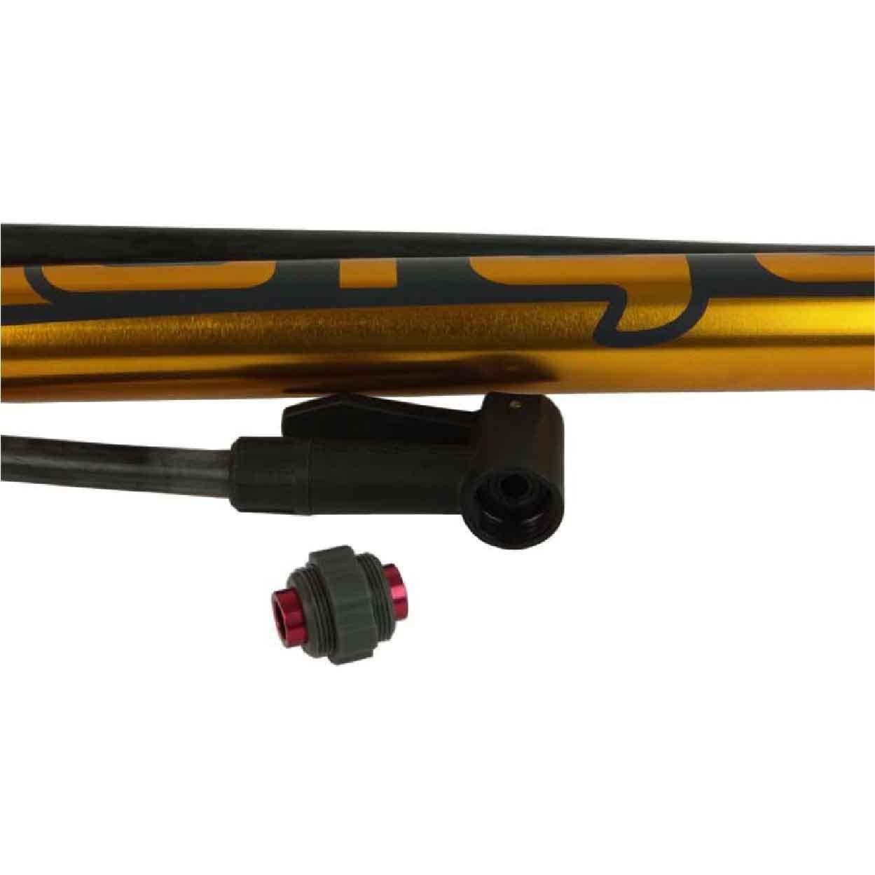 Bomba De Ar Giyo GF-5725  C/ Manômetro Dourado Aluminio