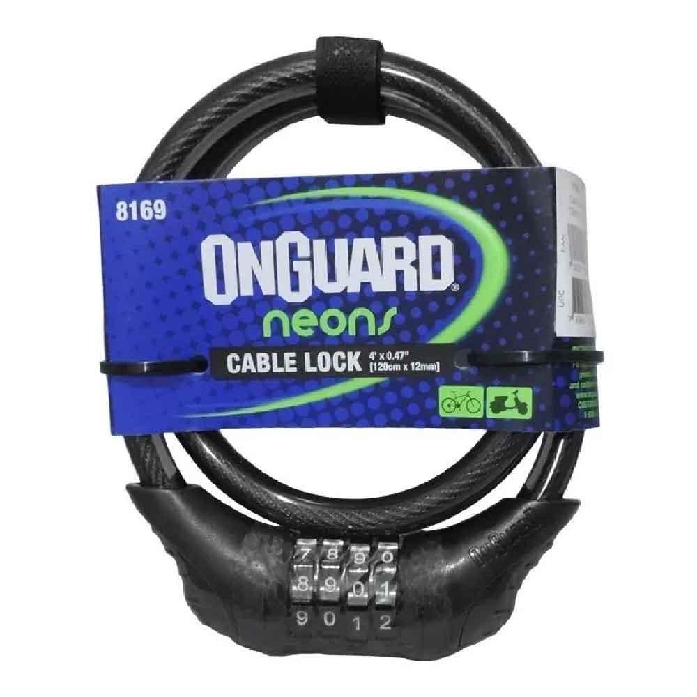 Cadeado Aspiral Onguard Neon Segredo 120CM X 12MM