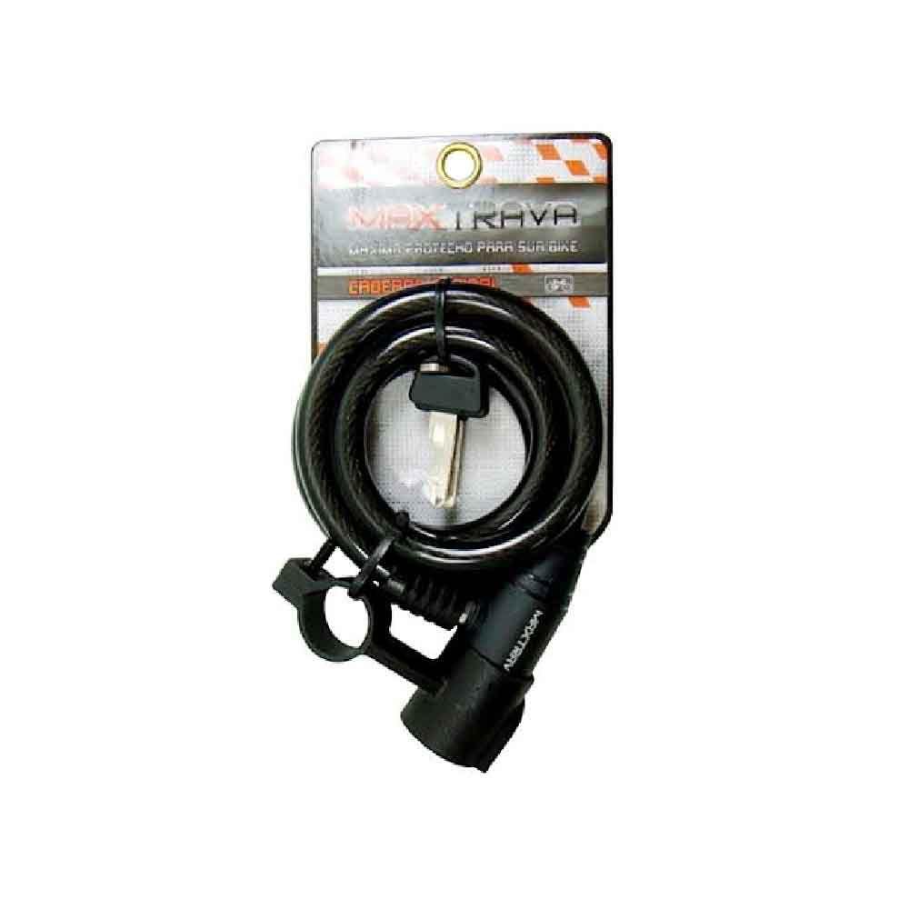 Cadeado Espiral Maxtrava C/Chave 6x1m Fume Preto