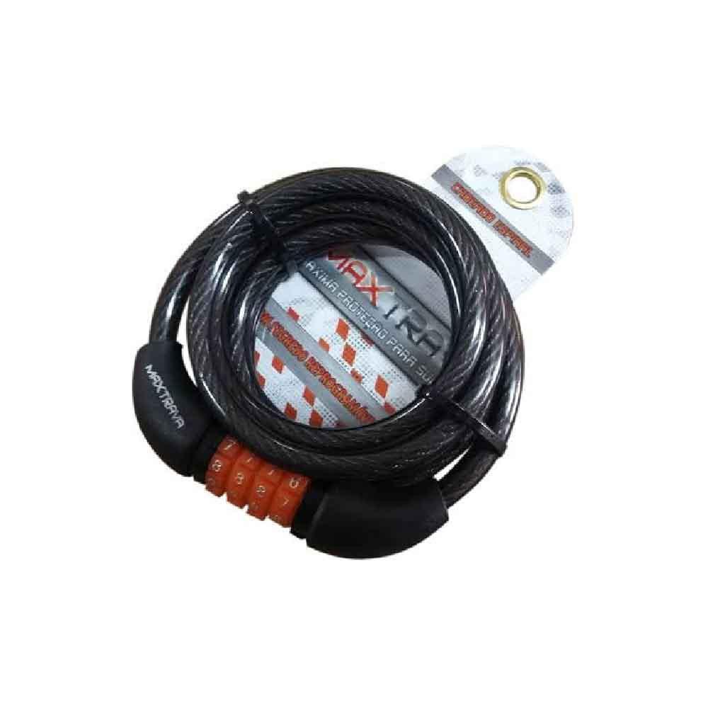 Cadeado Espiral Maxtrava Segredo 12x1500mm Fume Preto
