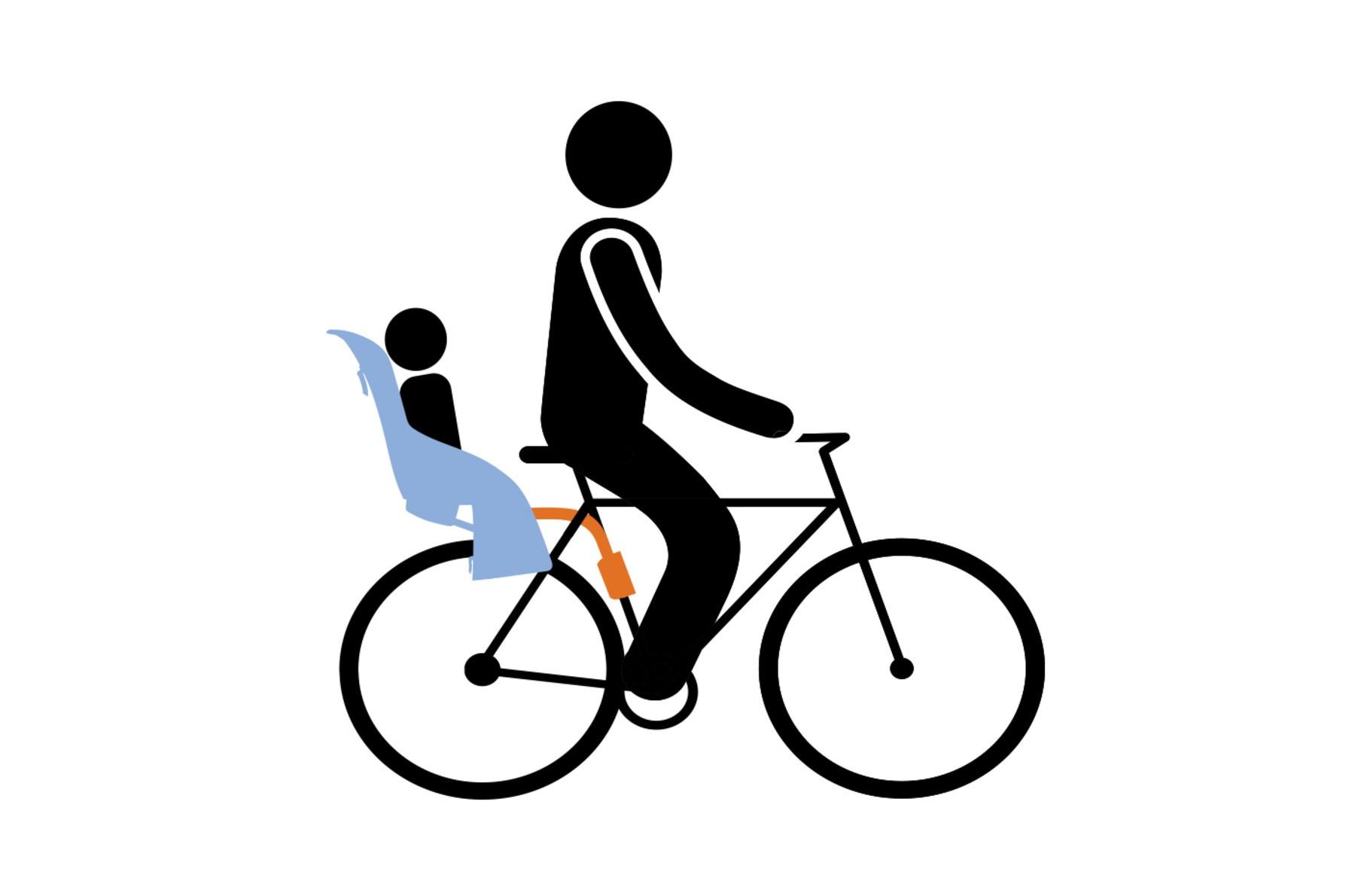 Cadeirinha Traseira Bike Thule Ride Along Lite Cinza 22kg