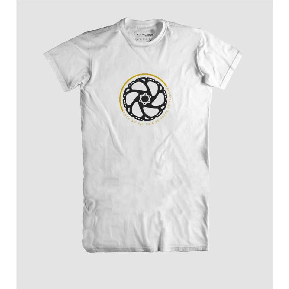 Camisa T/M Casual CiclyLife Disco Branco
