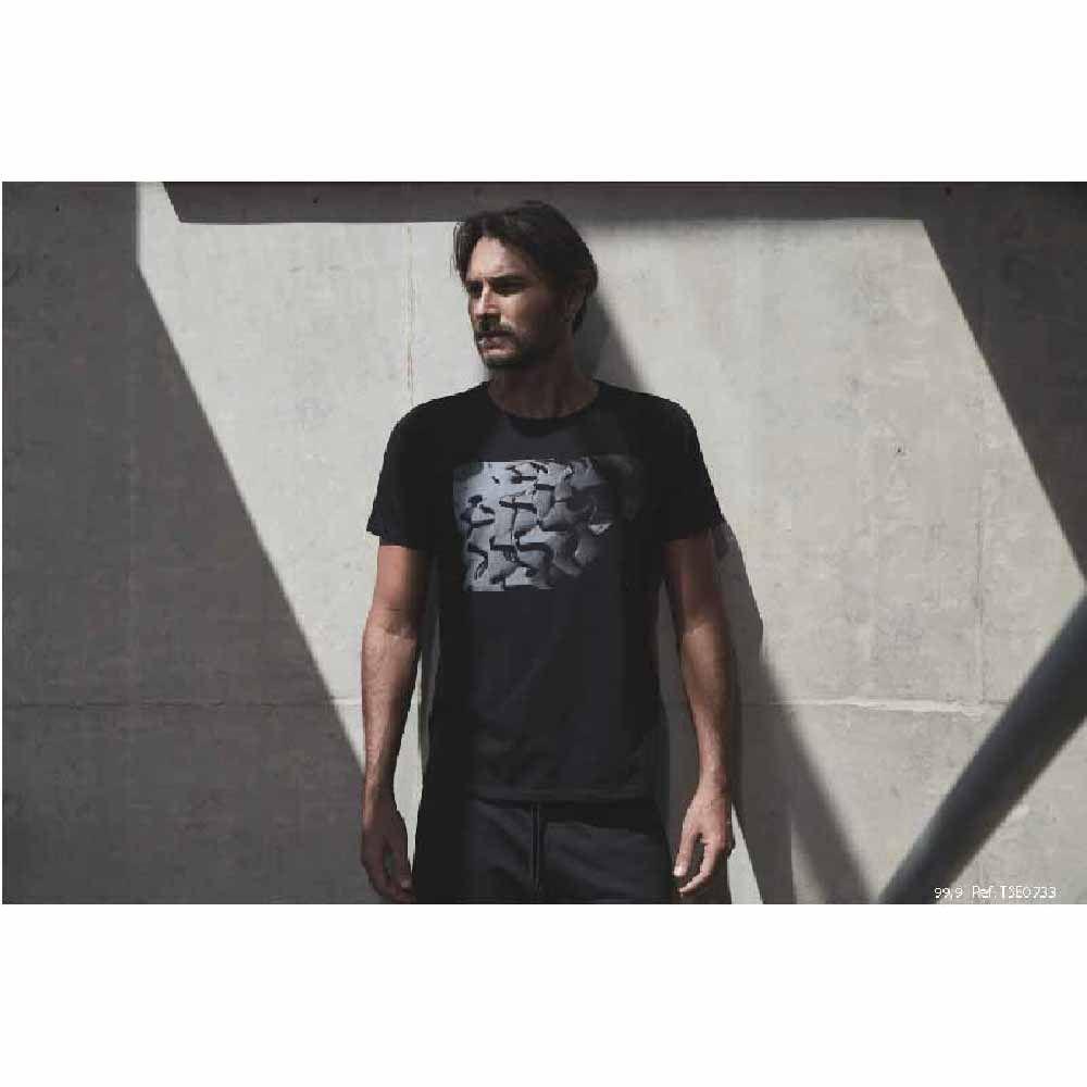 Camiseta Sense T/G Parte Cassete Preto