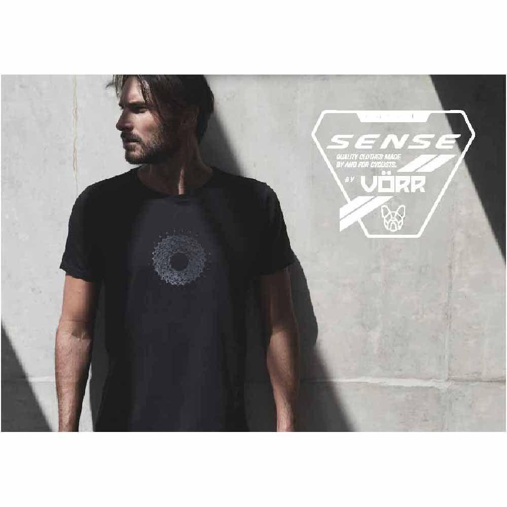 Camiseta Sense T/M Cassete Completo Preto