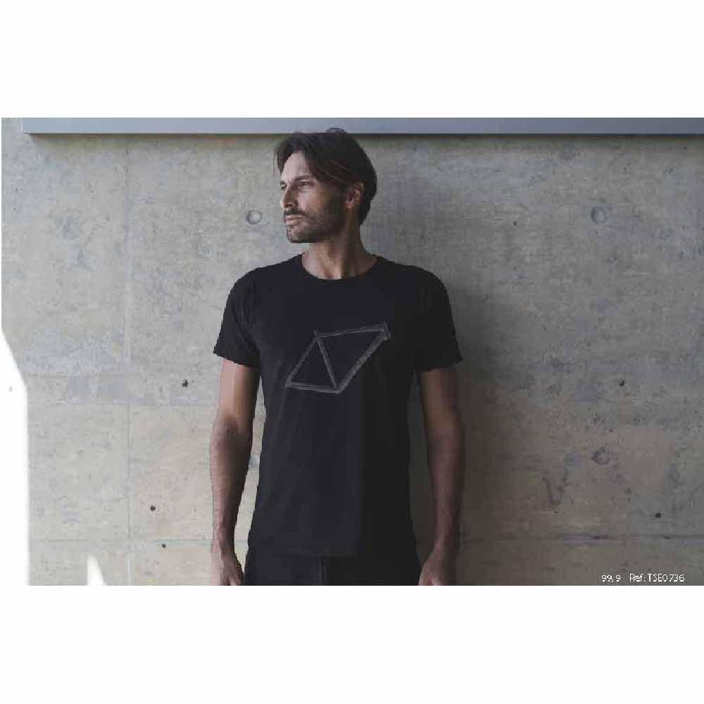 Camiseta Sense T/P Quadro Frame Preto Algodão Egípcio
